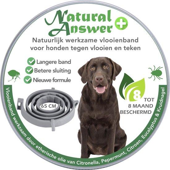 Teken- en Vlooienband voor honden PLUS - Natuurlijk middel tegen vlooien en teken - 100% natuurlijk - 65 CM - Tot 8 maand werkzaam - Biologisch