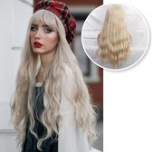 SassyGoods® Blonde Pruik - Pruiken Dames - Wig - Verstelbaar - Lang Golvend Haar - Blond - 70 cm