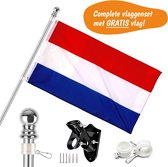 Vlaggenstok Voor Aan Huis - Gratis Nederlandse Vlag - Vlaggenstokhouder