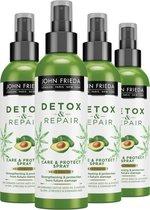 John Frieda Detox & Repair Protect Spray - 4x 250 ml - Voordeelverpakking