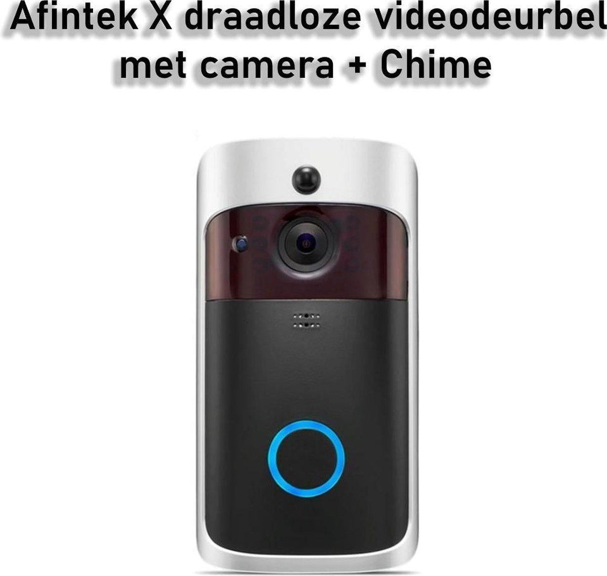 AFINTEK X Videodeurbel met Camera - Slimme Deurbel | Inclusief Gong & Batterijen