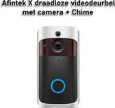 AFINTEK X Videodeurbel met Camera - Slimme Deurbel   Inclusief Gong & Batterijen
