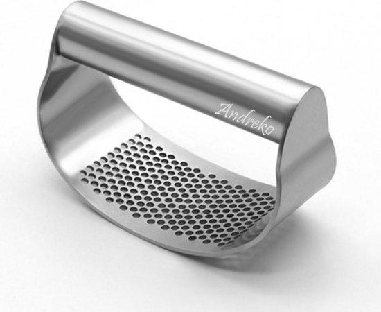 Topper! Andreko knoflookpers| de allerbeste professionele zware kwaliteit RVS| vaatwasser bestendig | gemakkelijk schoon te maken| hoogwaardig RVS| in een handomdraai verse knoflook