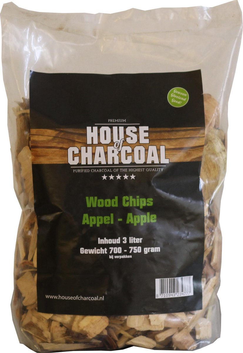 Houtsnippers Appel - Wood Chips Apple - 3 liter