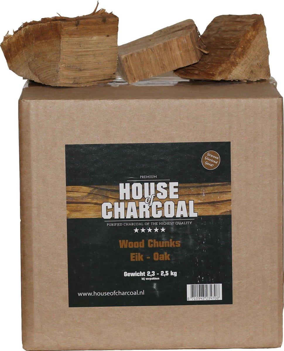 Rookhouts chunks Eik - Oak chunks smoking wood - 2,5 kg
