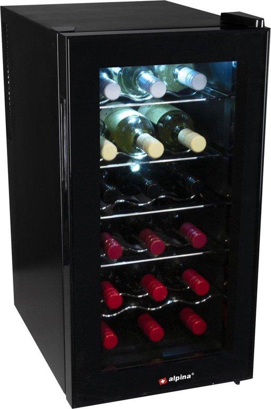 Koelkast: Wijnkoeler 50L   Wijnkast   Koeler   Koelkast   Wijnklimaatkast   Champagnekoeler, van het merk Alpina