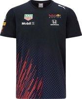 Max Verstappen Red Bull Racing Teamline T-shirt 2021 Maat XXL - Formule 1 - Circuit Zandvoort -
