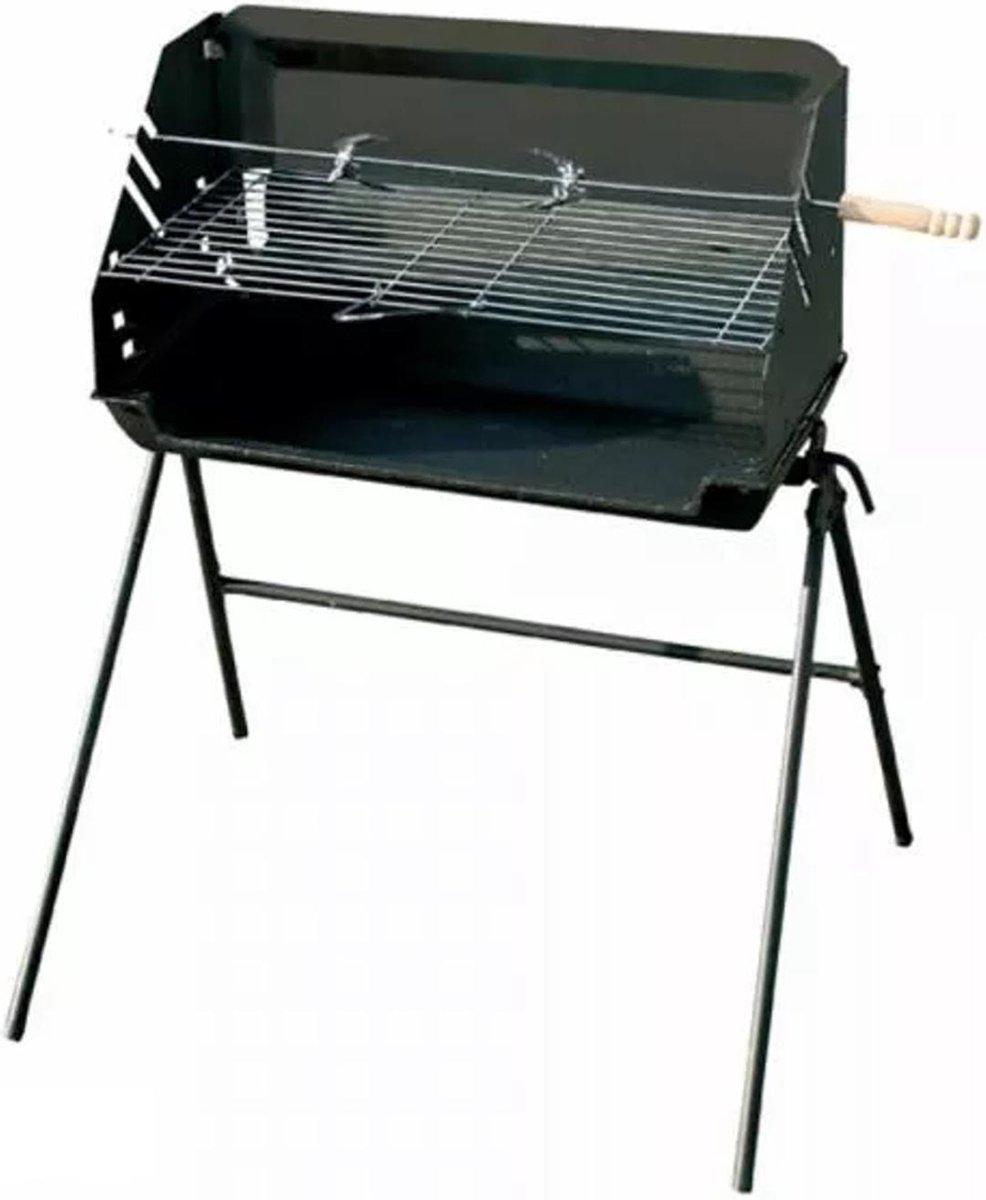 Master Grill Rechthoekige gietijzeren grill 56x27cm tuingrill Houtskoolgrill