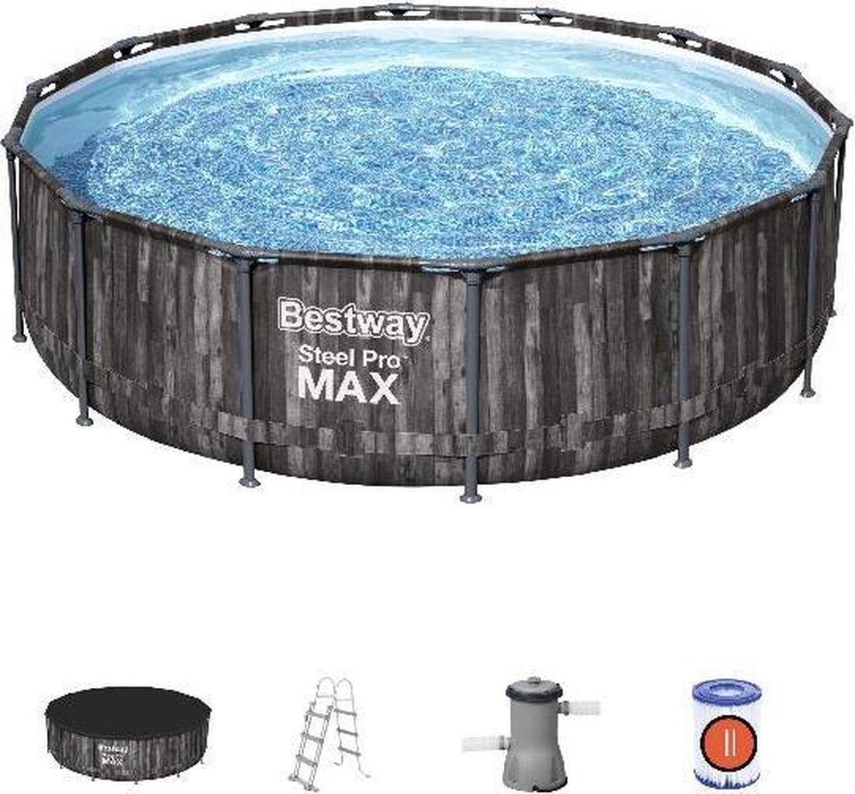 Bestway zwembad steel pro max set rond hout 427