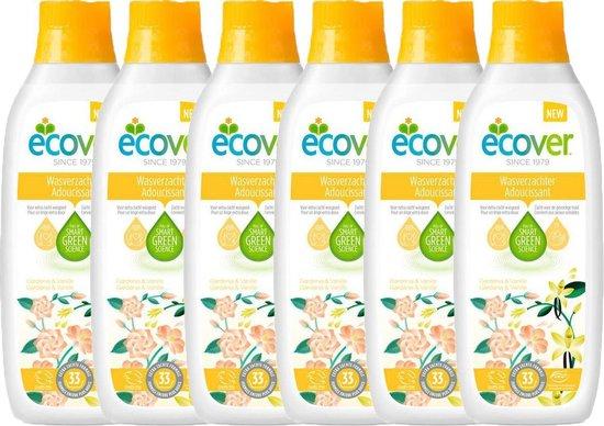 Ecover - Wasverzachter - Gardenia & Vanille - 6 x 1 L (198 wasbeurten) - Voordeelverpakking
