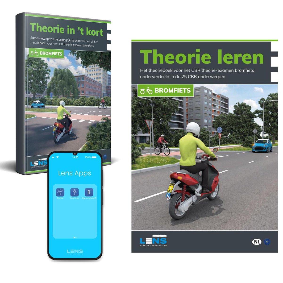 Scooter Theorie Boek 2021 met Samenvatting en Apps - Rijbewijs AM (Brommer) - Theorie Leren 2021 - L
