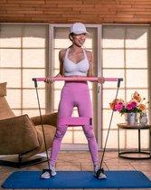 Peach-it - Pilates Stick -  Fitness hulpmiddel - Weerstandsband - Roze