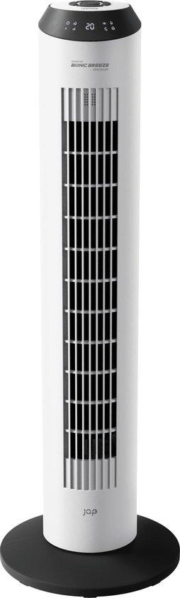 JAP Vancouver - Stille torenventilator - Ionic luchtverfrisser - Toren ventilator staand - Timer - Afstandsbediening – Mat wit