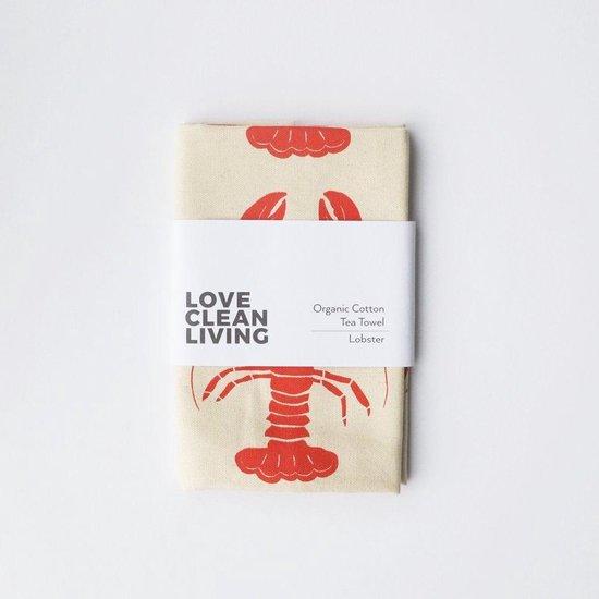 Love Liga Ecologische Theedoek Kreeft 70x50cm