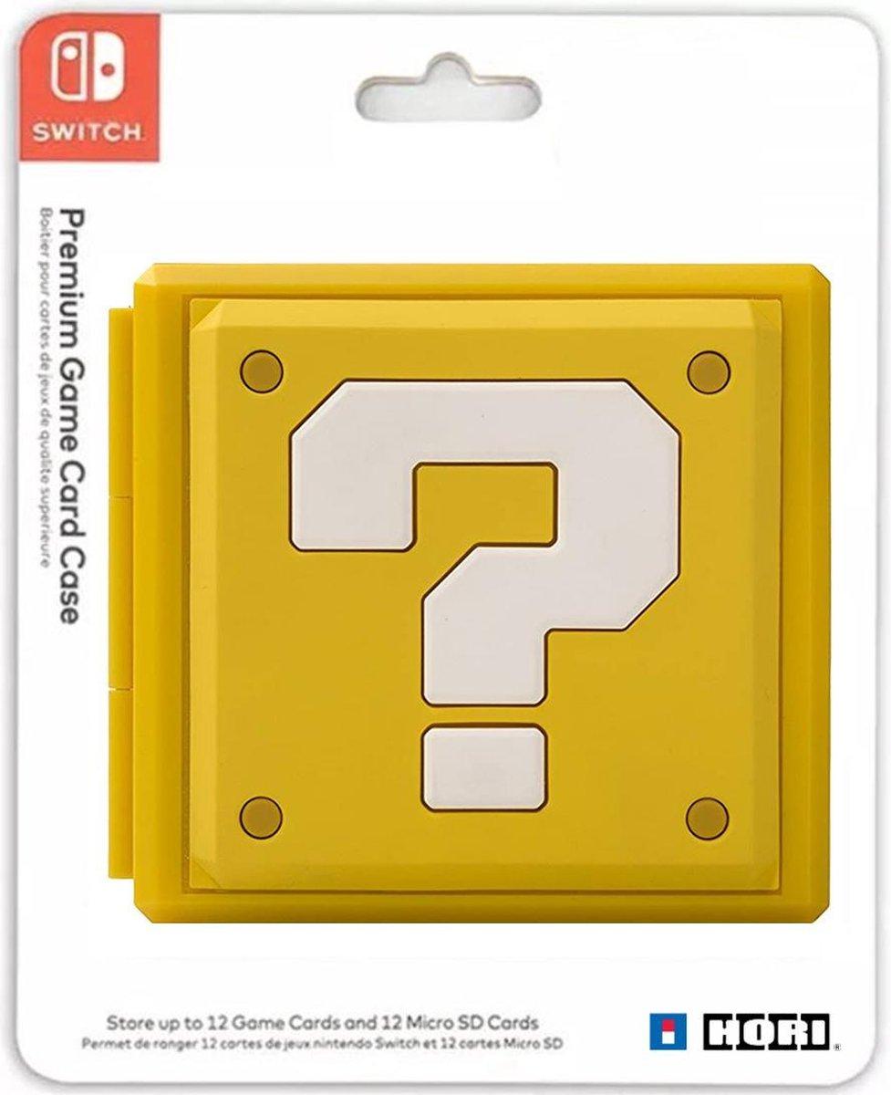 Nintendo Switch - Premium Game Card Holder - Spel Hoesje Geel - Opslag Case - 12 plaatsen - Block