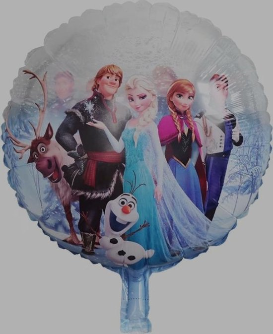 Ballon Frozen transparant, 40 cm kindercrea
