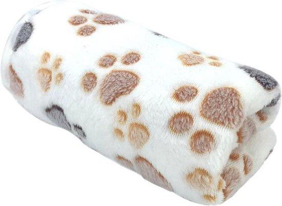 Hondendeken - Deken voor de hond - Fleecekleed - Deken - Huisdieren - Winter - Warm - Huisdierbenodigdheden - Slapen - 76 x 52 cm