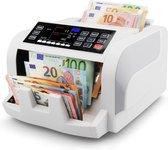 MONEYSCAN® Biljettelmachine met Waardetelling - Stofhoes - 5-Voudig Valsgelddetector - 1000 Biljetten/minuut - Optel- en Afpasfunctie - Alarm - Geldteller - Geldtelmachine - Geld Teller