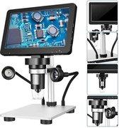 DM9 Digitale Microscoop Met 7 Inch Verstelbare Display 1080P Full Hd Camera Usb Met 8 Dimbare Led lichten