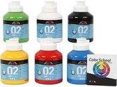 A-Color acrylverf, primaire kleuren, 02 - matt , 6x500ml