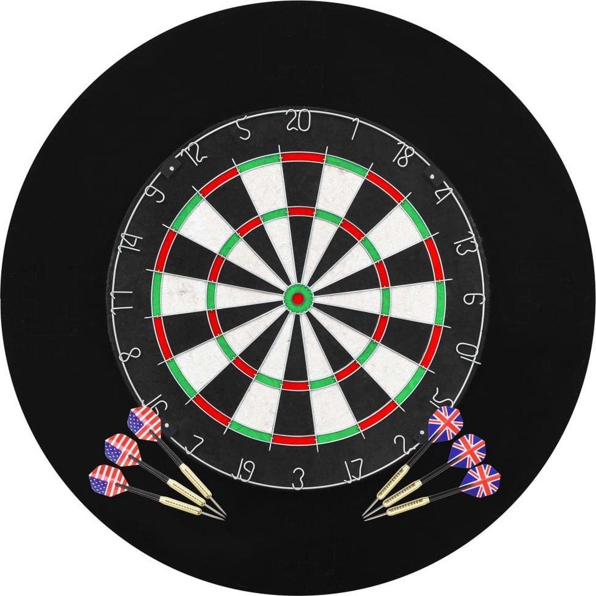 Hip-Wonen.nl - Professioneel Dartbord + Surround ring + Dartpijlen - Dartset - 45 x 3,8 cm
