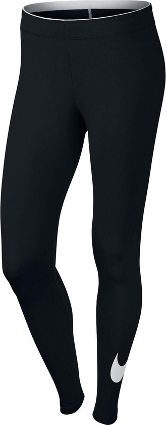 Nike Women'S Sportswear Legging Dames Sportlegging - Black/White - Maat L