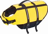Nobby hondenzwemvest met handlus - geel - maat m - 35 cm