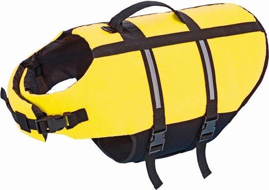 Nobby - Hondenzwemvest met handlus - Geel - Maat M - 35 cm
