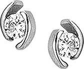 Glams Oorknoppen Zirkonia - Zilver - 7.5 mm