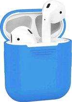 Siliconen Bescherm Hoesje Cover Hoes voor Apple AirPods 2 Case - Blauw