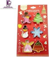 Koekjes Uitstekers RVS - 6-delige Set Winter / Kerst - Koekjes Vormen - Cookie cutter - Uitsteekvormpjes