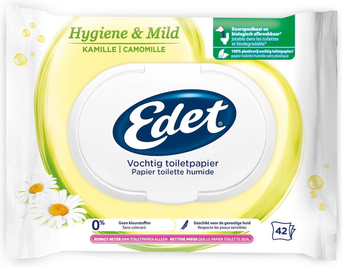 Edet Kamille vochtig wc papier - 294 stuks - met natuurlijke kamille extracten