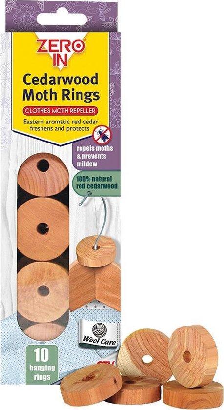 Cederhouten ringen motten-werend - set van 10 stuks