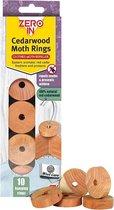 Cederhouten ringen motten-werend - set van 30 stuks