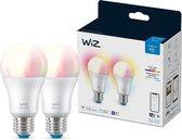 WiZ Lamp Slimme LED Verlichting - Gekleurd en Wit Licht - E27 - 60W - Mat - Wi-Fi - 2 stuks