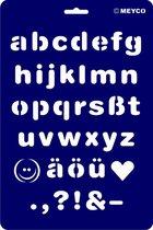 Teken en/of tamponeer sjabloon alfabet