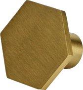 Kastknop Juul | Metaal | Goud | Hexagon, zes hoekig, zeshoek | Meubelknop | Kast greep | Ladeknop | Deurknopjes | | Ladegreep | Meubelknoppen | Meubelknop |Kastgreepje|Meubel beslag|Drawer knob|Meubelhandvat | Commode|ladekast | Keukenkastdeurtjes