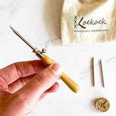 Punch Naald Set met 3 maten naalden | Punch needle tool te gebruiken met borduurgaren,  dunne wol en haakkatoen, Eco punch naald