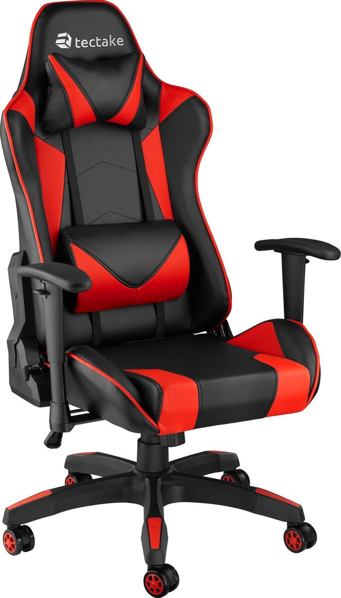 tectake -  Bureaustoel Twink zwart / rood - 403207
