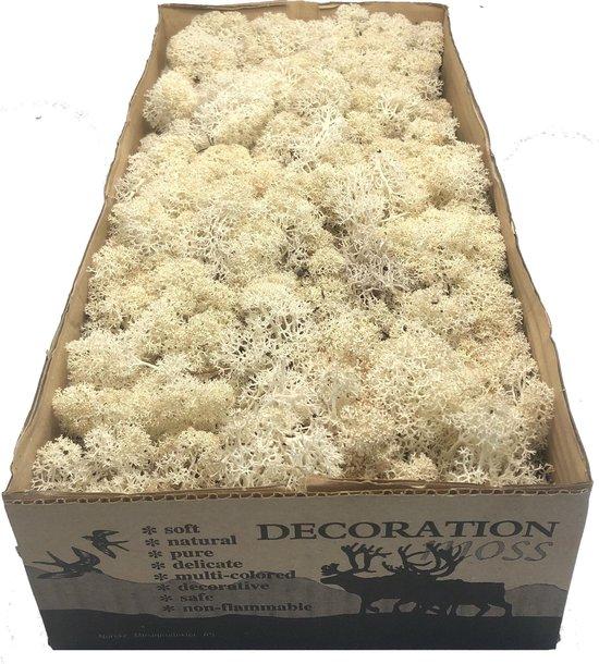 IJslands Rendiermos Natural per 500 gram voor decoraties, mosschilderijen en kerststukjes