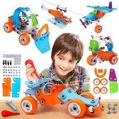 Build & Play Educatief Speelgoed - WithGoods® 5 in 1 Bouwpakket Voor Kinderen -  Speelgoed Gereedschap - Constructiespeelgoed - STEM Speelgoed - Incl Bouwboekje - 132 Bouwstenen