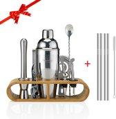 Cocktail Set – 22 delige Cocktailset + Recepten E-book – Luxe Cadeau Man Vrouw Shaker Set – 750ml – Qwality