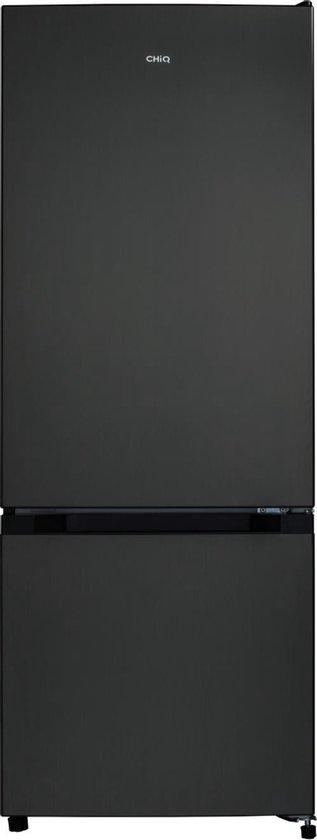 Koelkast: CHiQ FBM205L42 - Koel-vriescombinatie - 205 Liter (153 + 52) - Donker RVS - Omkeerbare deuren, van het merk chiq