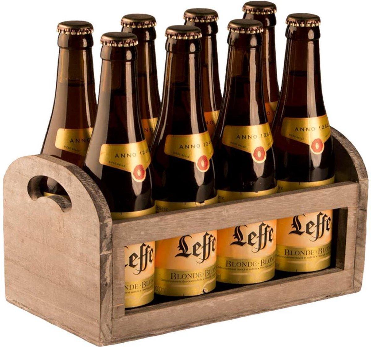 Cadeaubakje voor 6 flessen- hout