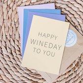 Set kaarten met wijn quotes - Happy Wine Cards – Mix verjaardag - Set van 4 kaarten