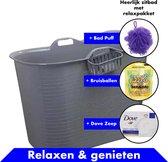 Bath Bucket Grijs Zitbad – Mobiel Bad Voor Volwass