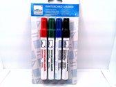 Whiteboard markers - Zwart, blauw, rood en groen