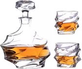 Whiskey karaf met glazen -Decanter - Whisky set - 75CL - Glas