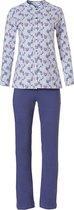 Klassieke doorknoop pyjama met lange mouwen 'floral delight' maat 48