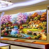 Rubye® Diamond Painting Volwassenen - Diamond Painting Kinderen - Gigantisch Landschap - 100x50cm